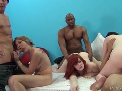 Three chicks fucked by three dicks in orgy videos
