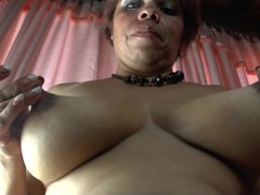 Latina mature plays with her natural tits videos