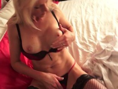 Smoking hot blonde milf in sexy lingerie videos
