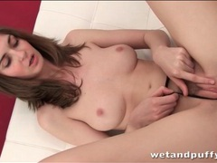 Brunette girl next door plays with her vagina videos