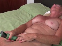 Solo freckled granny vibrates her hot pussy movies at adipics.com