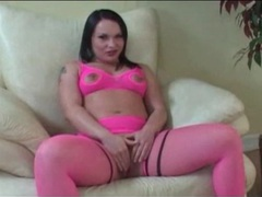 Katja kassin sucks dicks in hot pink lingerie movies at freekiloclips.com