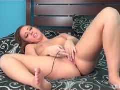 Vibrator masturbation makes brunette girl moan videos