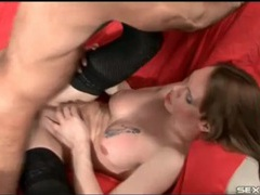 Beautiful shemale in black stockings laid videos