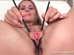 Teen plays with her pussy lips with chopsticks movies at freekiloclips.com