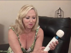 Mature in a pretty sundress masturbates with a toy videos