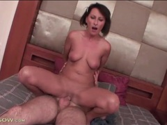Slick and smooth mom cunt rides cock videos