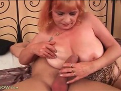 Voluptuous mature redhead rides a thick cock videos
