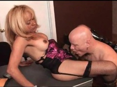 Office blowjob and anal with shemale milf movies at lingerie-mania.com