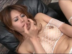 Japanese nurse is gorgeous in pink lingerie tubes at lingerie-mania.com