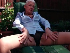 Short hair granny in sexy stockings outdoors videos