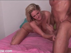 Big tits milf sucks off a muscular guy movies at sgirls.net