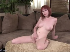 Pretty redhead shakes her booty in panties movies at freekilomovies.com