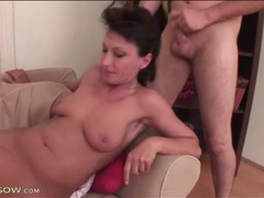 Long dick and heavy balls sucked by mommy videos