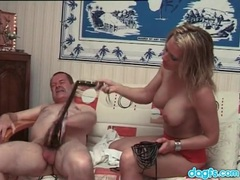 Old dude and hot blonde flog each other movies at sgirls.net