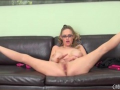 Curvy katie kox strips and bounces her tits movies at kilopics.net