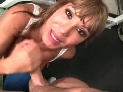 Ava devine sucks cock and licks asshole sloppily tubes at chinese.sgirls.net