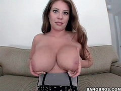 Big natural tits coated in slippery oil movies