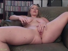 Chubby vicky vixen strips and masturbates videos