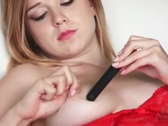 Young busty blonde masturbates in lingerie movies at kilopills.com