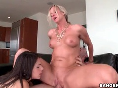 Ass to mouth threesome with milf and young slut videos