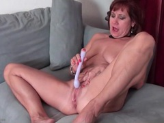 Toy fills this moaning and masturbating mature videos