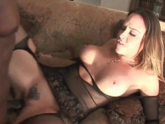 Chanel preston interracial sex in black lingerie movies at lingerie-mania.com