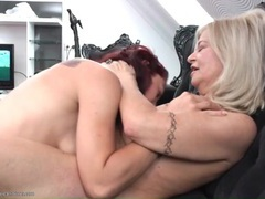 Small tits mature makes out with young redhead videos