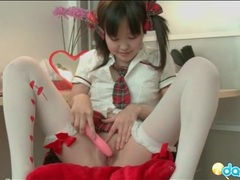 Asian schoolgirl masturbates her sexy pussy tubes at korean.sgirls.net