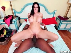 Slippery milf pussy impaled on black cock tubes