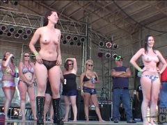Topless ladies dancing on rock stage movies at sgirls.net