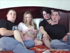 Swingers have hot oral sex in a foursome videos