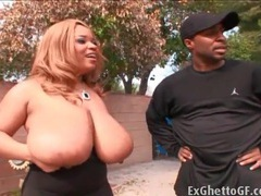Thick black girl passionately sucks dick outdoors videos
