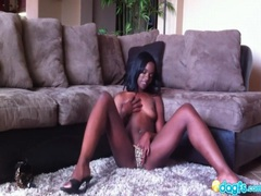 Black hottie masturbates and talks naughty movies at sgirls.net