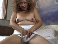 Horny old mom in pantyhose masturbates videos