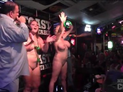 Naked babes in a bar sprayed with water movies