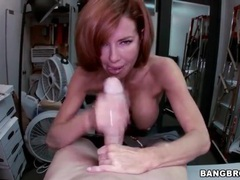 Milf redhead veronica avluv sucks big cock videos