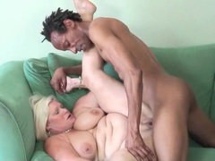 Fit and hung black dude fucks chubby mature videos