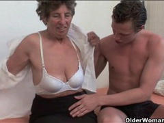 Granny gobbles knob and gets fucked hard videos