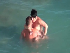 Mature couple boldly fucks in the ocean movies at find-best-lesbians.com