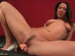 Milf blows and fucks her favorite dildo videos