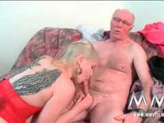 Old guy fucks a slut with sexy wing tattoos movies at kilomatures.com