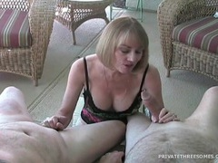 Milf strokes dick and talks naughty to camera videos