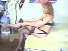 Vintage milf puts on a sexy black lingerie set movies at sgirls.net