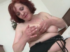 Solo mature redhead plays with her pussy videos