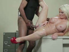 Bimbo alexis ford cuckolds hubby with bbc movies at kilosex.com