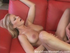 Gorgeous milf opens her legs for hot fucking videos