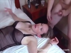 Two curvy lingerie girls fucked in hotel foursome movies at kilopics.net