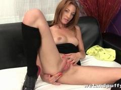 Heels look hot on solo masturbating girl videos