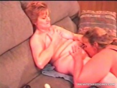 Amateur mature lesbians have sex as he films them videos